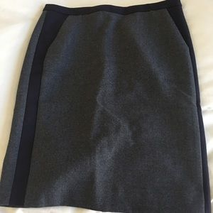 JCREW No 2 pencil skirt. Navy and grey.